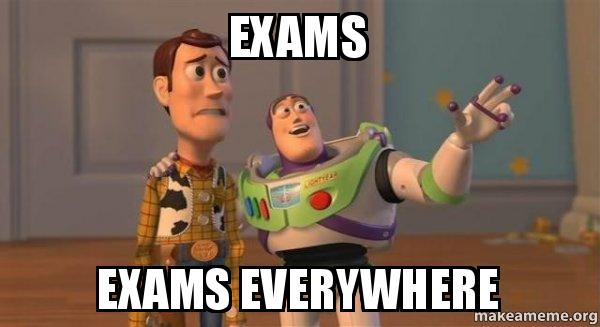 Don't panic... but EXAM WEEK IS COMING!